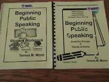 Beginning Public Speaking set (student/guide) (Teresa Moon)