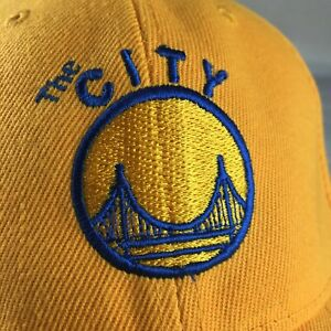 Golden State WARRIORS Mitchell & Ness THE CITY Logo Yellow  Hat Adjustable