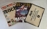 Bundle of 3 Rock Music Magazines, Classic Rock 2010 x 2 & Prog 2012 - Good Cond