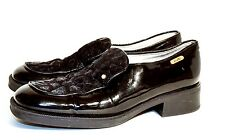 Bimbi Studio Black Patent Leather/Texture Velvet Shoes 6 US, 36 EU, 4 UK