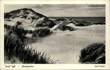 Insel Sylt Schleswig Holstein s/w AK ~1920/30 Strandpartie Wanderdüne ungelaufen