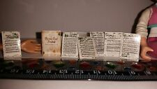 1:12 Scale Handcrafted Dollhouse Miniature Christmas Carol Song Book Sheet Music