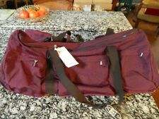 """Kipling Discover 30"""" Rolling Wine Colored Duffle Bag Luggage"""