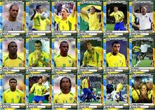 Brazil 2002 World Cup winners football trading cards