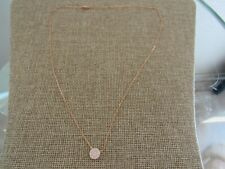 Nadri Cubic Zirconia disc Pendant Necklace Rose gold plated NWOT