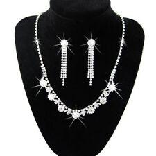 Diamond Shine Bridal Jewellery Crystal Set Drop Earrings & Necklace Choker S220