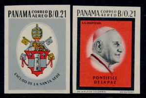 Panama C331-2 imperf MNH Pope John XXIII, Crest