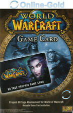 World of Warcraft - GameCard 60 Tage Pre-Paid Code - WoW Gamecard Code - EU