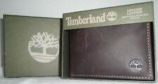 Timberland Men's Genuine Smooth Brown Leather Passcase Wallet