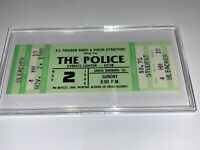 THE POLICE XTC 1980 UNUSED CONCERT TICKET Sting Stewart Copeland Andy Summers