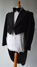 "Mens Black Vintage Penguin / Long Tailed Formal Dinner Suit, Size 40"", W36"" L30"""
