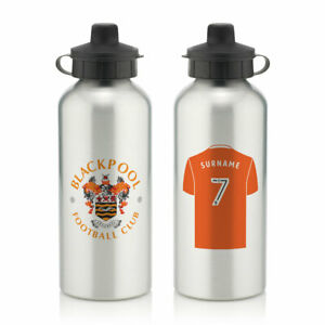 PERSONALISED Blackpool FC Gifts - Aluminium Water Bottle - Official