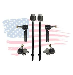 6 Pc Tie Rods Ball Joints for Buick Allure Chevrolet Impala Oldsmobile Pontiac