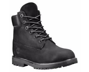Women's Timberland 6-Inch Classic Premium Waterproof Boots Nubuck  Black 8658A