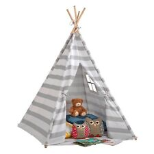 My Play Childrens Canvas Indian Teepee Tent Wigwam Indoor Outdoor Play House NEW