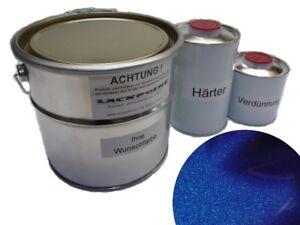 1 Liter Set 2K Autolack Nacht Blau Metallic kein Klarlack Trend Lackpoint Tuning
