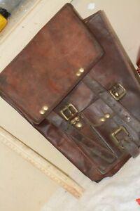 #1 Vintage European Military Leather Satchel/Bag -