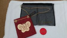 WOMEN'S 'KENNETH FOR JANE' RED LEATHER CROSSBODY 'MARIPOSA' BAG BNWT GOLD CHAIN