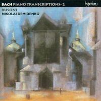BACH-BUSONI: PIANO TRANSCRIPTIONS, VOL. 2 NEW CD