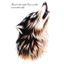 Flash Einmal Temporary Klebe Tattoo heulen Wolf Körper Body Party Geschenk WOW