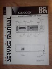 Kenwood Service Manual~KX-42 KX-42B Cassette/Tape Deck/Player~Original Repair