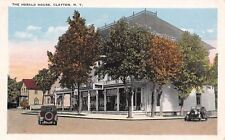 Clayton New York~The Herald House~Vintage 1920s Automobiles~Postcard