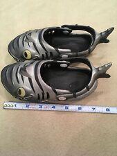 Polliwog Toddler Shoes Sharks Grey Beach Clogs
