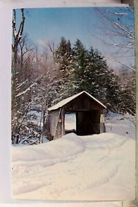 New York NY Ulster County Dry Brook Covered Bridge Roscoe Postcard Old Vintage