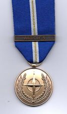 NATO MEDAL WITH CLASP; ARTICLE 5 ( EAGLE ASSIST )  FULL-SIZE MEDAL