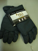 NWT Men's ISO Isotoner 100% Waterproof  Breathable Gloves Size M/L Black