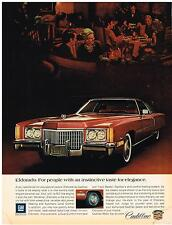 Vintage 1972 Magazine Ad Cadillac Eldorado For People With Taste For Elegance