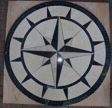 "Floor Marble Medallion Mosaic Design 36"" #24"