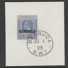 Barbuda 6070 -1922 KG5 2.5d  on piece with MADAME JOSEPH FORGED POSTMARK