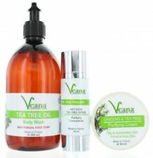 Anti Acne Body Soap + anti Acne Serum + Tea Tree & Ginseng Cream All Natural