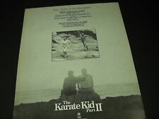 KARATE KID II music 1987 Promo Display Ad BILL CONTI Peter Cetera DAVID FOSTER