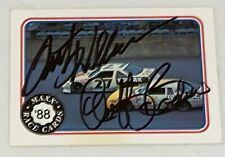 Rusty Wallace Geoff Bodine 1988 MAXX #62 WINSTON CUP autographed VINTAGE card