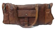 """20""""Men's Genuine Vintage Leather Large Vintage Duffle Travel Gym Bag Luggage Bag"""