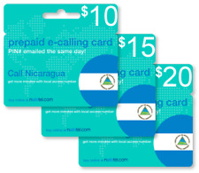 Cheap International calling card for Nicaragua with emailed PIN