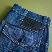 GStar New Trash Jeans Straight Button Blue Men's Vintage (LabelW33L32) W 32 L 32