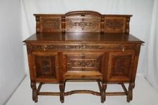French Oak Sideboard Buffet with Fabulous Carvings, Circa19th
