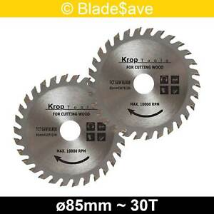 Stanley Circular Saw Blade Fine Cut TCT 85mm x 15mm x 30T by KROP (2 Pack)