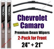 Wipers 2-Pk Premium Beam Wiper Blades fit 2010 - 2015 Chevrolet Camaro 19240/210