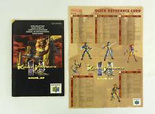 Killer Instinct Gold - Notice de jeu Nintendo 64 N64