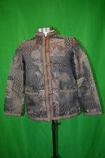 Womens Jacket TUDOR COURT Tapestry Long Sleeve Button Front Haband size small