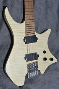 2019 NK Headless guitar Fanned Frets 5-ply Roasted Flame Maple Neck wood color