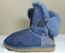 UGG Boots Australia Blue Suede Bailey Button Shearling Women Sz 5 Fashion