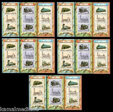 Railways Trains, Eisenbahn, S Tome and Principe 1982 MNH 3 SS Set -5 sets lot ()