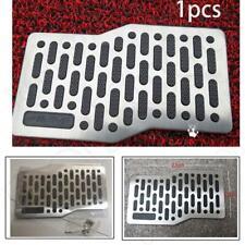 Universal Aluminum+Rubber Truck Car Floor Mat Carpet Heel Plate Foot Pedal Rest