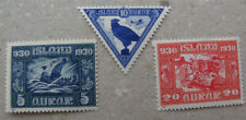 ICELAND # 1930 Millenary of Parliament 3 stamps.174,178 and 188 MNH..
