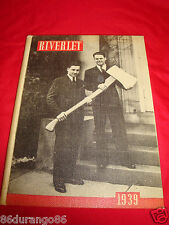 RIVERLET ROCKY RIVER HIGH SCHOOL 1939 YEARBOOK CLEVELAND OHIO